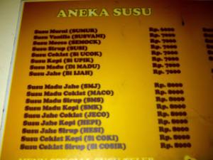 menu papiti